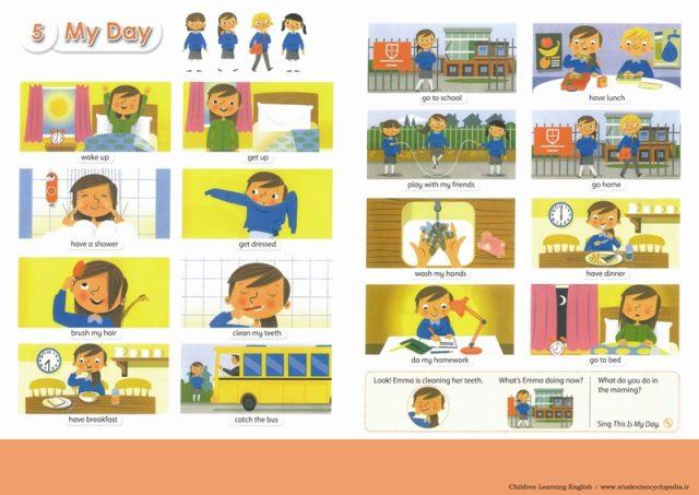 پوستر آموزشی مصور زبان انگلیسی برای آموزشگاه زبان