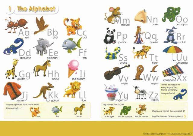 پوستر آموزش حروف الفبای زبان انگلیسی برای کودکان و دانش آموزان